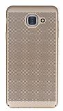 Eiroo Air To Dot Samsung Galaxy J7 Max Delikli Gold Rubber Kılıf