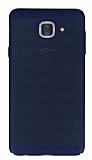 Eiroo Air To Dot Samsung Galaxy J7 Max Delikli Lacivert Rubber Kılıf