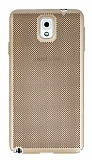 Eiroo Air To Dot Samsung Galaxy Note 3 Delikli Gold Rubber Kılıf