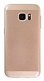 Eiroo Air To Dot Samsung Galaxy S7 Edge Delikli Gold Rubber Kılıf