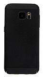 Eiroo Air To Dot Samsung Galaxy S7 Edge Delikli Siyah Rubber Kılıf