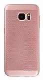 Eiroo Air To Dot Samsung Galaxy S7 Edge Delikli Rose Gold Rubber Kılıf