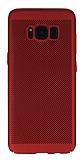 Eiroo Air To Dot Samsung Galaxy S8 Plus Delikli Kırmızı Rubber Kılıf