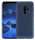 Eiroo Air To Dot Samsung Galaxy S9 Plus Delikli Lacivert Rubber Kılıf