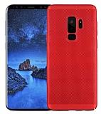 Eiroo Air To Dot Samsung Galaxy S9 Plus Delikli Kırmızı Rubber Kılıf