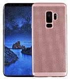 Eiroo Air To Dot Samsung Galaxy S9 Plus Delikli Rose Gold Rubber Kılıf