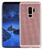 Eiroo Air To Dot Samsung Galaxy S9 Plus Delikli Rose Gold Rubber Kılıf