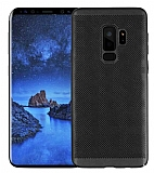 Eiroo Air To Dot Samsung Galaxy S9 Plus Delikli Siyah Rubber Kılıf