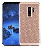 Eiroo Air To Dot Samsung Galaxy S9 Plus Delikli Gold Rubber Kılıf
