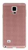 Eiroo Air To Dot Samsung N9100 Galaxy Note 4 Delikli Rose Gold Rubber Kılıf
