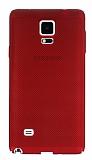 Eiroo Air To Dot Samsung N9100 Galaxy Note 4 Delikli Kırmızı Rubber Kılıf