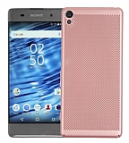 Eiroo Air To Dot Sony Xperia L1 Delikli Rose Gold Rubber Kılıf