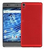 Eiroo Air To Dot Sony Xperia L1 Delikli Kırmızı Rubber Kılıf