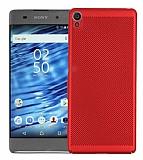 Eiroo Air To Dot Sony Xperia XA1 Delikli Kırmızı Rubber Kılıf