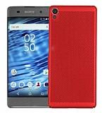 Eiroo Air To Dot Sony Xperia XA Ultra Delikli Kırmızı Rubber Kılıf