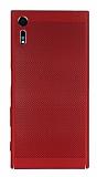 Eiroo Air To Dot Sony Xperia XZ Delikli Kırmızı Rubber Kılıf