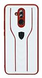 Eiroo AJ Casual Huawei Mate 20 Lite Deri Beyaz Rubber Kılıf
