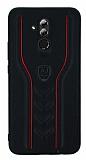 Eiroo AJ Casual Huawei Mate 20 Lite Deri Siyah Rubber Kılıf