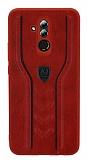 Eiroo AJ Casual Huawei Mate 20 Lite Deri Kırmızı Rubber Kılıf
