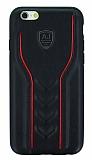 Eiroo AJ Casual iPhone 6 / 6S Deri Siyah Rubber Kılıf