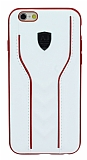 Eiroo AJ Casual iPhone 6 / 6S Deri Beyaz Rubber Kılıf