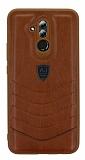 Eiroo AJ Classic Huawei Mate 20 Lite Deri Kahverengi Rubber Kılıf