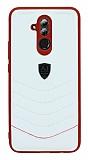 Eiroo AJ Classic Huawei Mate 20 Lite Deri Beyaz Rubber Kılıf