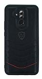 Eiroo AJ Classic Huawei Mate 20 Lite Deri Siyah Rubber Kılıf