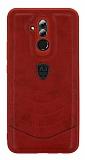 Eiroo AJ Classic Huawei Mate 20 Lite Deri Kırmızı Rubber Kılıf