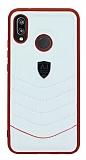 Eiroo AJ Classic Huawei P20 Lite Deri Beyaz Rubber Kılıf