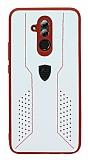 Eiroo AJ Retro Huawei Mate 20 Lite Deri Beyaz Rubber Kılıf