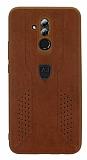 Eiroo AJ Retro Huawei Mate 20 Lite Deri Kahverengi Rubber Kılıf