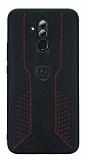 Eiroo AJ Retro Huawei Mate 20 Lite Deri Siyah Rubber Kılıf