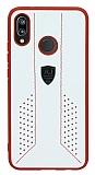 Eiroo AJ Retro Huawei Mate P20 Lite Deri Beyaz Rubber Kılıf