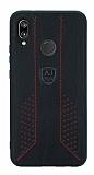 Eiroo AJ Retro Huawei Mate P20 Lite Deri Siyah Rubber Kılıf
