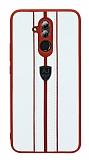 Eiroo AJ Sport Huawei Mate 20 Lite Deri Beyaz Rubber Kılıf