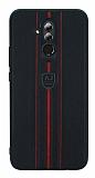 Eiroo AJ Sport Huawei Mate 20 Lite Deri Siyah Rubber Kılıf