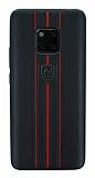 Eiroo AJ Sport Huawei Mate 20 Pro Deri Siyah Rubber Kılıf