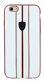 Eiroo AJ Sport iPhone 6 / 6S Deri Beyaz Rubber Kılıf