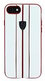 Eiroo AJ Sport iPhone 7 / 8 Deri Beyaz Rubber Kılıf