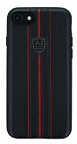 Eiroo AJ Sport iPhone 7 / 8 Deri Siyah Rubber Kılıf