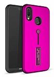 Eiroo Alloy Fit Huawei P Smart Plus Selfie Yüzüklü Mor Kılıf