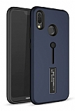 Eiroo Alloy Fit Huawei P Smart Plus Selfie Yüzüklü Lacivert Kılıf