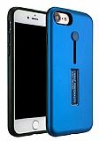 Eiroo Alloy Fit iPhone 7 / 8 Selfie Yüzüklü Mavi Kılıf