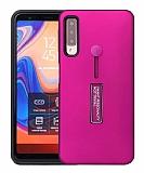 Eiroo Alloy Fit Samsung Galaxy A7 2018 Selfie Yüzüklü Mor Kılıf