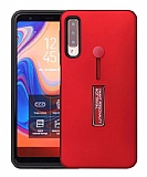 Eiroo Alloy Fit Samsung Galaxy A9 2018 Selfie Yüzüklü Kırmızı Kılıf