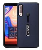 Eiroo Alloy Fit Samsung Galaxy A9 2018 Selfie Yüzüklü Lacivert Kılıf