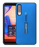 Eiroo Alloy Fit Samsung Galaxy A9 2018 Selfie Yüzüklü Mavi Kılıf
