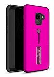 Eiroo Alloy Fit Samsung Galaxy J6 Selfie Yüzüklü Mor Kılıf
