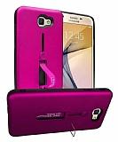 Eiroo Alloy Fit Samsung Galaxy J7 Prime / Prime 2 Selfie Yüzüklü Mor Kılıf